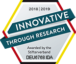 Quality seal Innovative through research by Stifterverband für die Deutsche Wissenschaft